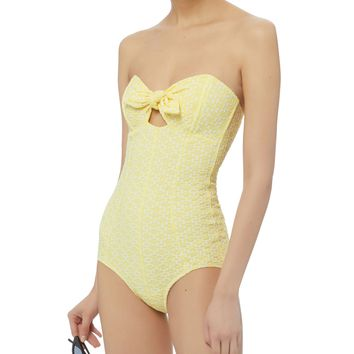 Poppy Yellow One Piece Swimsuit