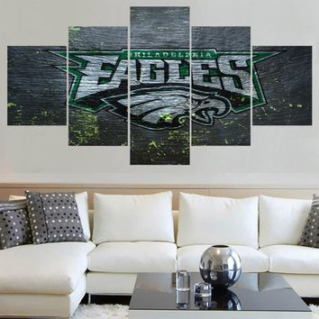 Classic Animal Philadelphia Eagles Logo Paintings Wall Art Home Decor Picture Canvas Painting Calligraphy For Living Room