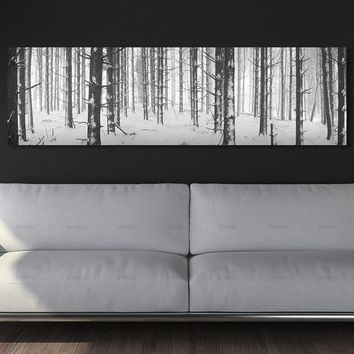 wall picture long canvas painting landcape art print trees posters picturedecoration for living room  wall art Painting no frame