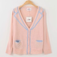 New Fall 2013 College Knitted Embroidered Cardigan from Moooh!!
