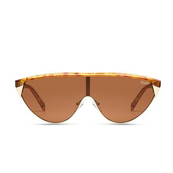 Quay Elle Ferguson #QUAYXELLE Goldie Orange Tortoise Sunglasses / Brown Lenses