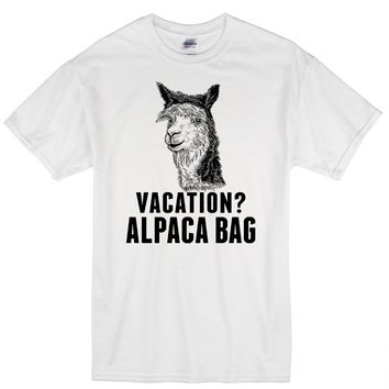 Vacation Alpaca Humor T Shirt