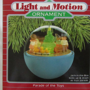 Hallmark Keepsake Christmas Ornament-Light and Motion 'Parade of the Toys'-1980's