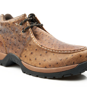 Roper Mens Casual Lace Up Rugged Outsole Shoe 2 Eyelet Ankle Boot W Padded Collar