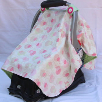 Baby Girl Car Seat Canopy, Baby Elephant, Baby Girl, Infant Girl, Baby Shower Gift, Infant Car Seat Canopies