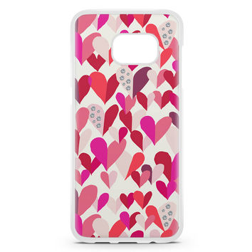 Kate Spade Confetti Hearts Multi Crystal Stones Samsung Galaxy S7 Edge Case