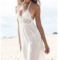Rio Jem White Maxi Dress