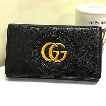 LMFOND Gucci Women Leather Multicolor Purse Wallet
