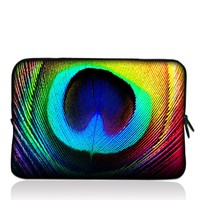 "Peacock Feathers 15"" 15.4"" 15.6"" inch Notebook Laptop Case Sleeve Carrying bag for Apple MacBook, Dell inspiron, vostro, thinkpad series"