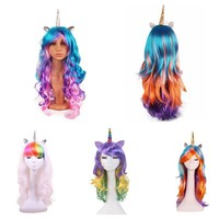 Craft Supplies  4 Styles  Cartoon Horse Cosplay  Unicorn Wig  Holiday Props Halloween Party Christmas  Adult Children