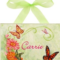 Butterfly & Daisy Personalized Wall Plaque