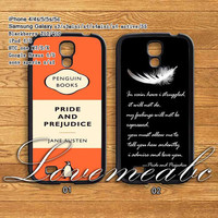 Pride and Prejudice,samsung galaxy S4 mini case,S3 mini ,samsung galaxy S3/S4 Case,samsung galaxy note 2/3,samsung galaxy s4 active,HTC ONE