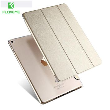 FLOVEME For ipad 6 Transparent Clear Leather Cover for ipad Air 2 Tablets Accessories Luxury Case for ipad Air 2 for ipad 6