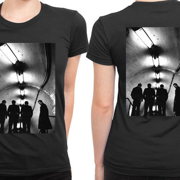 Joy Division Unknown Pleasure On Reality Photo 2 Sided Womens T Shirt
