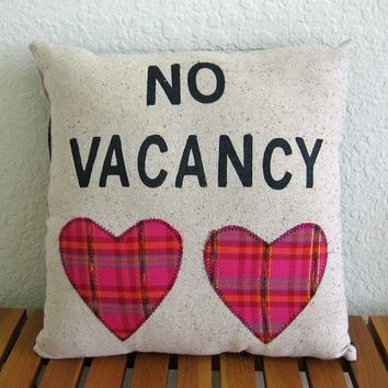 No Vacancy PillowRadical Tendencies by Nicole by nicolesteward