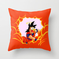 Goku eats clouds ( Dragon Ball Z ) Throw Pillow by TxzDesign