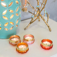 Glass Tea Light Holders Set Of 4