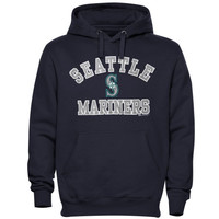 Seattle Mariners Stitches Fastball Fleece Pullover Hoodie – Navy Blue
