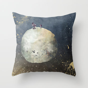 Two astronauts Throw Pillow by Jbjart | Society6