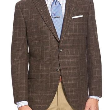 David Donahue 'Connor' Classic Fit Plaid Wool & Cashmere Sport Coat,