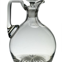 Table Wine Decanter Jug or Carafe in Cut Glass Antique English Early 1900s