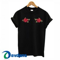 Red Rose Boobs T Shirt Women And Men Size S To 3XL
