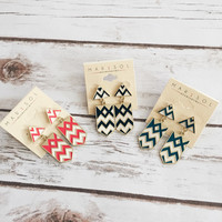 Chevron Drop Earring (More Colors Available)