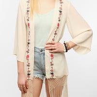 Staring At Stars Embroidered Silky Fringe Jacket