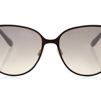 Jimmy Choo - Posie Black Framed with Glitter Sunglasses