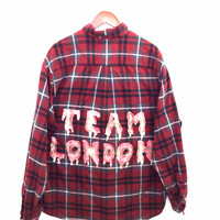 Team London Shirt in Plaid Flannel, Olympics in Sochi - Red