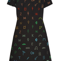 KENZO - Symbols embroidered crepe dress