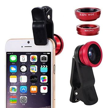Universal 3 in 1 Clip Smartphone Lens