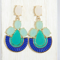 Bluer Than Blue Dangle Earrings
