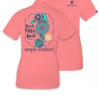 "Simply Southern ""Beautifully Loved"" Tee- Peach"