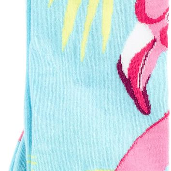 Novelty Knee High Socks-Pink Flamingo