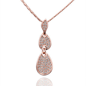 New 2016 Necklace Women jewelry 18K Gold necklaces & pendants XJLCIAAZ