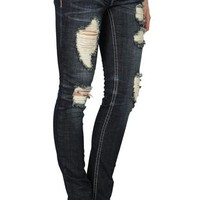 zanadi destructed skinny jean