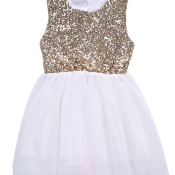 Sequins Baby Dress Children Girl Love Heart Backless Bowknot Party Princess Dress Clothing 2016 Formal Ball Dress Girl