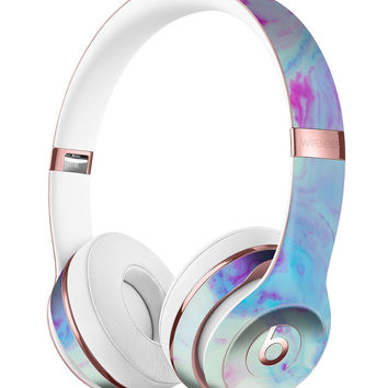 Marbleized Pink and Blue Paradise V371 Full-Body Skin Kit for the Beats by Dre Solo 3 Wireless Headphones
