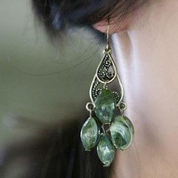 Bohemia Waterdrop Chandelier Earrings at online cheap fashion jewelry store Gofavor