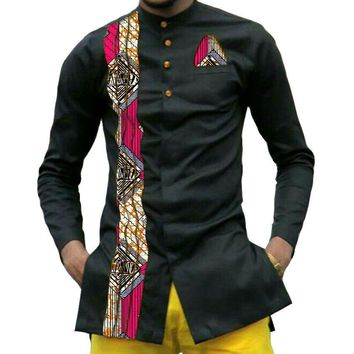 African print mens dashiki shirts