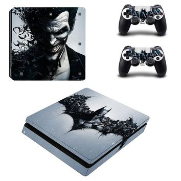 Joker Vinyl For PS4 Slim Sticker For Sony Playstation 4 Slim Console+2 controller Skin Sticker For PS4 S Skin