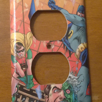 Comic Book superhero outlet cover Batman Robin Two Face