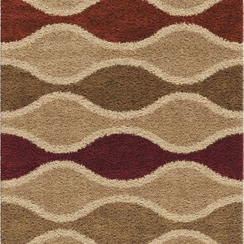 Orian Impressions Shag Making Waves Area Rug
