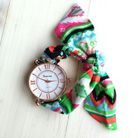Tribal Scarf Bracelet Watch