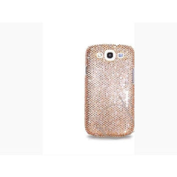 Champagne Gold Samsung Galaxy S5 Case Made With Swarovski Elements Crystals - Also Available for Galaxy S4 and S3