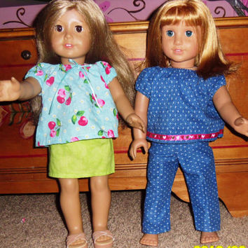 PDF Doll Clothing Pattern for 18inch Dolls   Easy Directions   Made for the younger child to be able to handle.