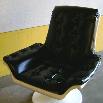 Vintage 1960's-70's Mod Space Age Swivel Chair