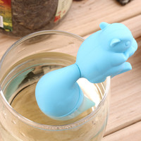 Cute Squirrel Tea Strainer Silicone loose-leaf Tea Infuser Filter Diffuser Fun Tea Accessories Tea Accessories