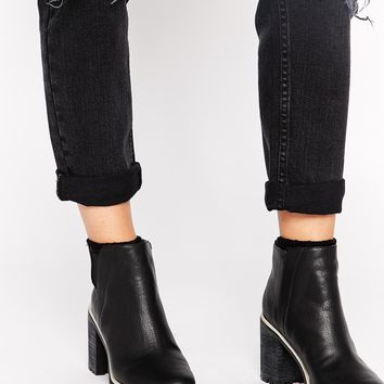 Monki Lucie Grunge Sole Ankle Boots